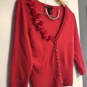 VGUC Rose Cardigan sweater with silver buttons